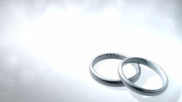 Wedding Rings Light Flare