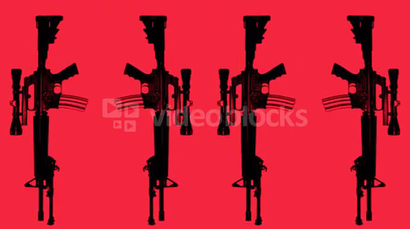 Gun Pattern Red 2