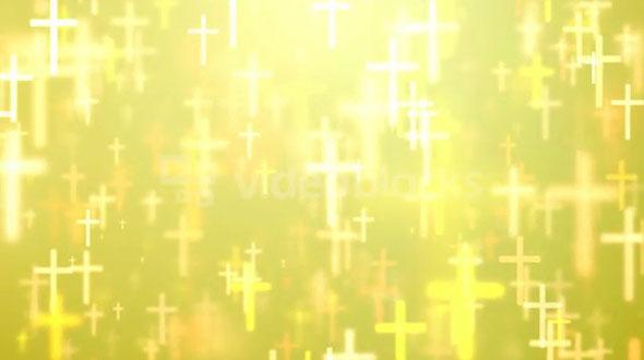 Floating Golden Crosses
