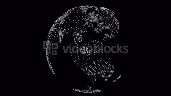 spinning transparent globe