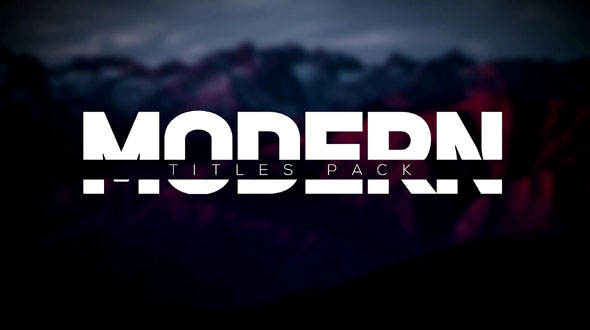 Modern Intro Titles Pack lll