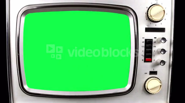 Green Screen Old TV