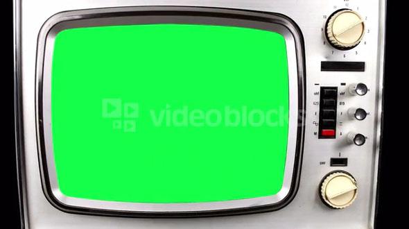 Green Screen Old TV