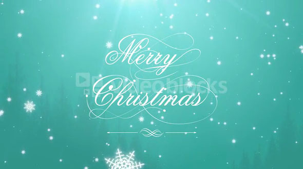 Merry Christmas Green Background
