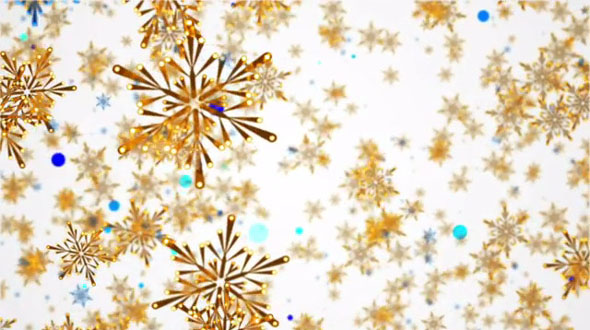 Snowflakes and Circles Motion Background