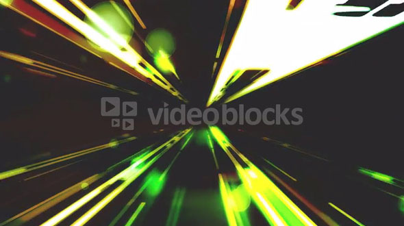 Intense Tunnel of Light Green