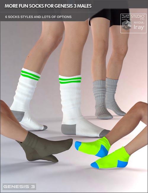 More Fun Socks Pack for Genesis 3 Males