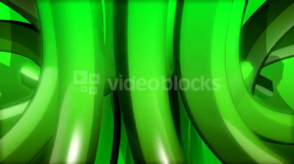 Rotating Green Abstract Shape