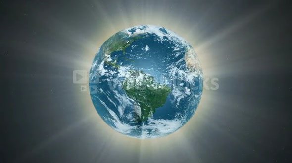 The planet earth is aglow (Loop)