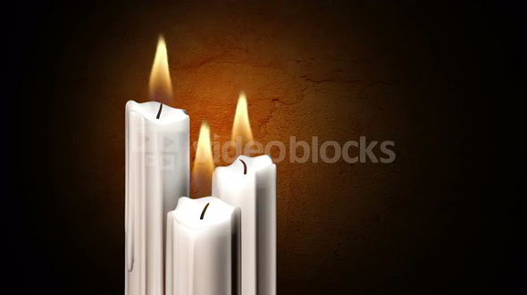 Three candles flicker (Loop)
