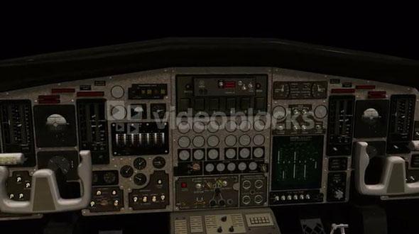 spinning cockpit plane