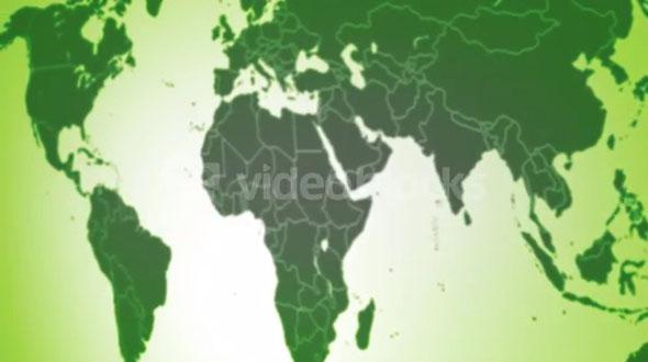 Soft World Map Green