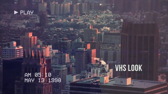 VHS Opener // Modern Glitch Slideshow