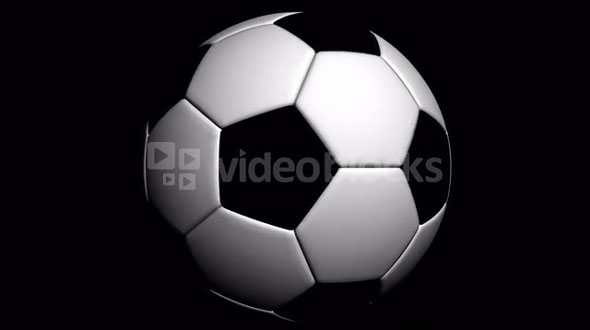Spinning of big soccer Ball