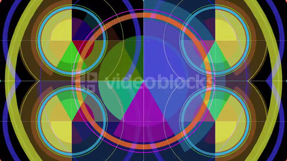 Colorful Graph Circles