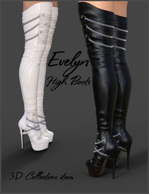 Evelyn High Boots for Genesis 3 Females