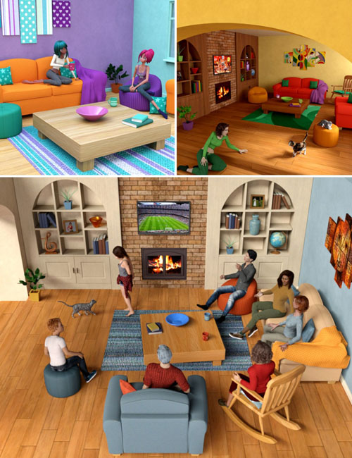 Toon-2-Real: Comfy Family Room