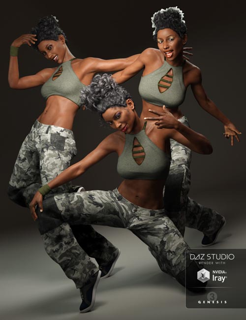 Capsces Hip Hop Poses and Expressions for Genesis 3 Female(s)