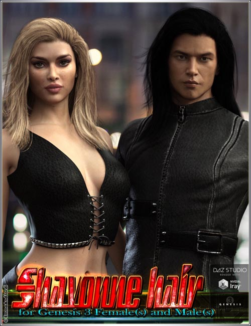 Shavonne Hair for Genesis 3 Female(s) and Male(s)