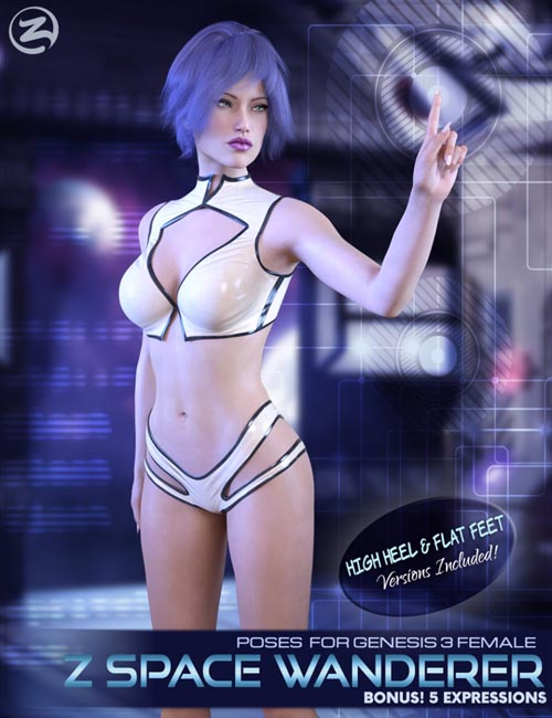 Z Space Wanderer - Poses and Expressions for Genesis 3 Female