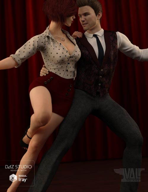 Swingsation Poses and Expressions for Genesis 3 Female and Male