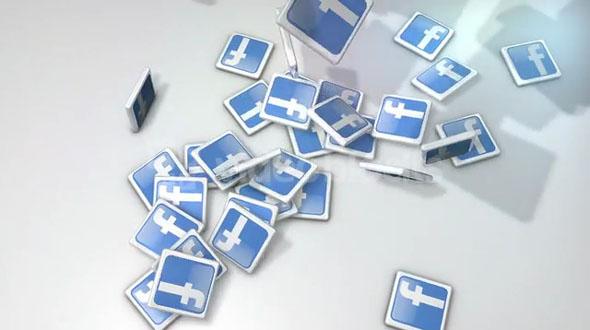 Dropping Facebook Icon Tiles