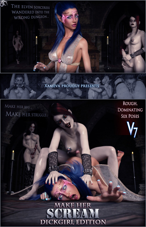 Make Her Scream Dickgirl - Poses For V7