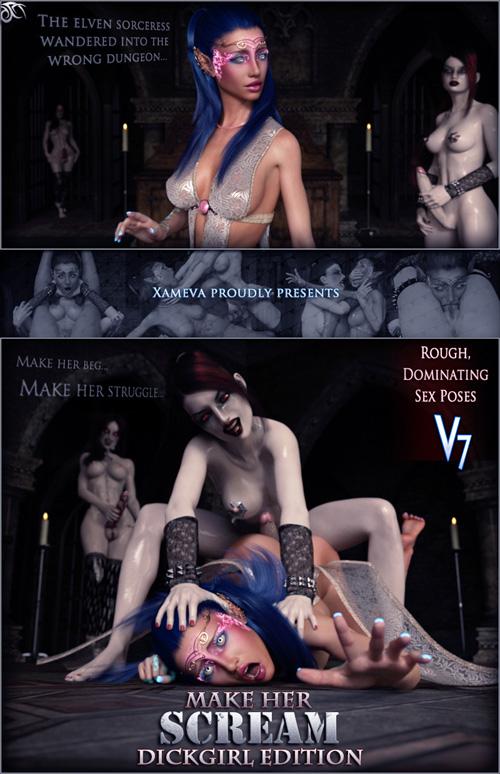 Make Her Scream Dickgirl - Poses For V7