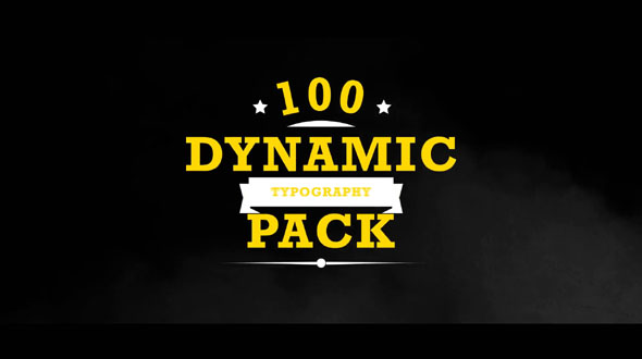 Dynamic Typography - Pro Kit
