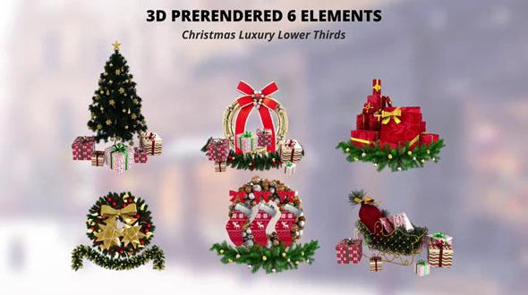 Christmas Luxury Lower Thirds
