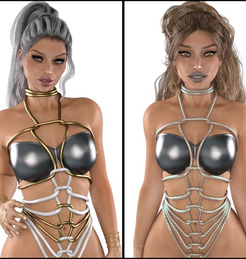 LUST - Rope Art Outfit for G3F