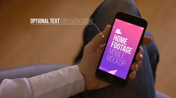 Home Footage Mobile Mockup
