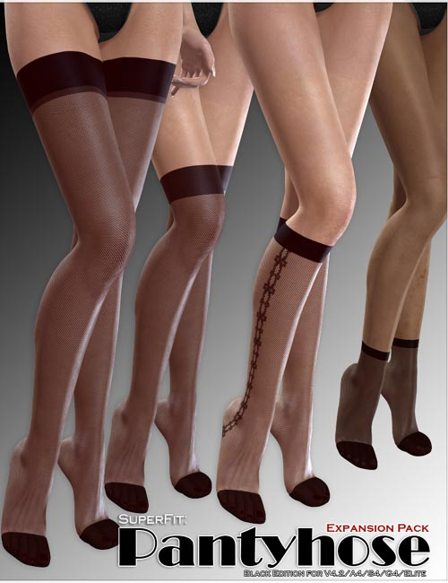 SuperFit: Pantyhose - Black - ExpansionPack