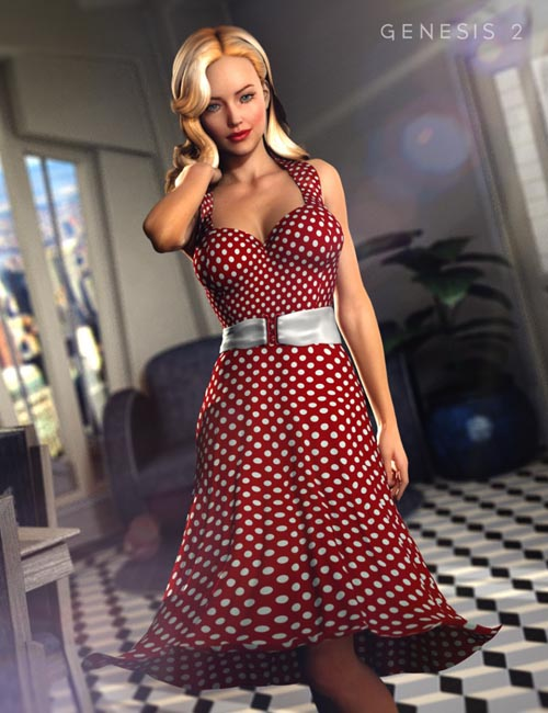 50's Glam for Genesis 2 Female(s) [ Iray UPDATE ]