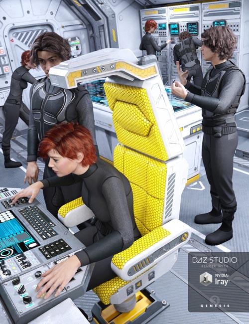 Sci-fi Cockpit Interior Poses