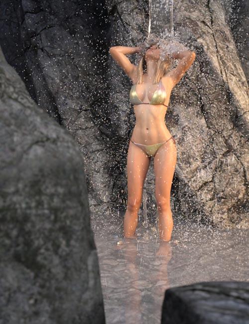 SY Rigged Waterfalls Iray