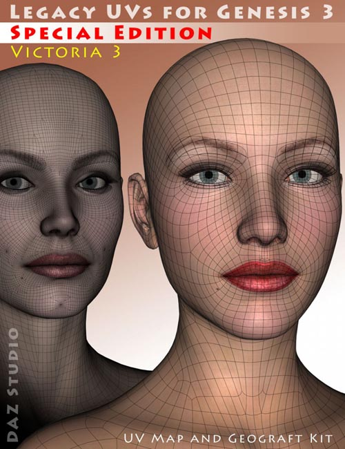 Legacy UVs for Genesis 3: Special Edition - Victoria 3