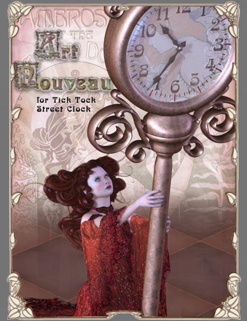 Tick Tock Street Clock - Art Nouveau