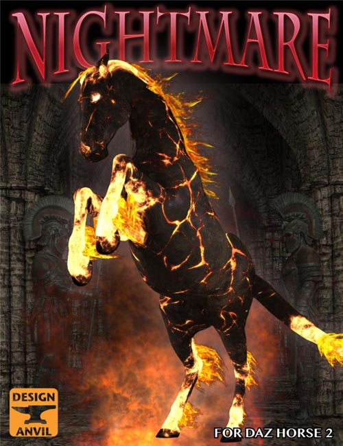 [ iray update ] DA Nightmare for DAZ Horse 2
