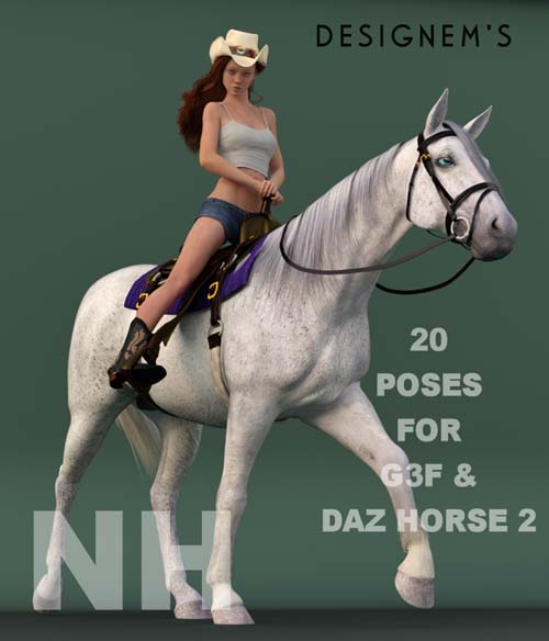 Natural horse - G3F & DAZ Horse 2 poses