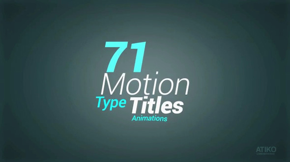 Motion Type Title Animations