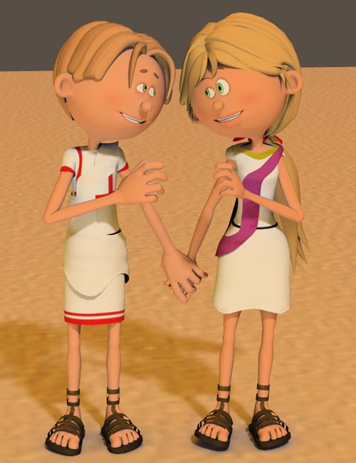 3DToons Roman Clothes for Toon Generation