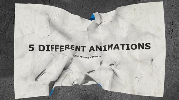 Crumpling Paper Logo Reveal