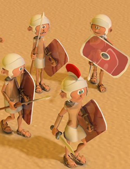 3DToons Roman Legionary and Centurion for Toon Generation