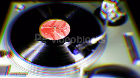 Warping Playing Record Player