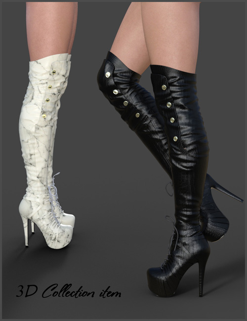 Catharina High Boots for Genesis 3 Females