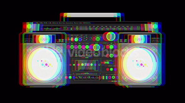Boom Box Illustration Creation