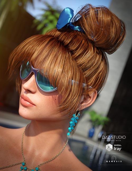 Summer Fun Hair for Genesis 3 Female(s)