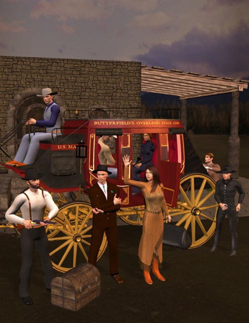 Stagecoach Action [ .DUF & Iray UPDATE ]