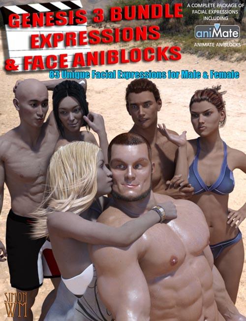Genesis 3 Bundle Expressions & Face aniBlocks